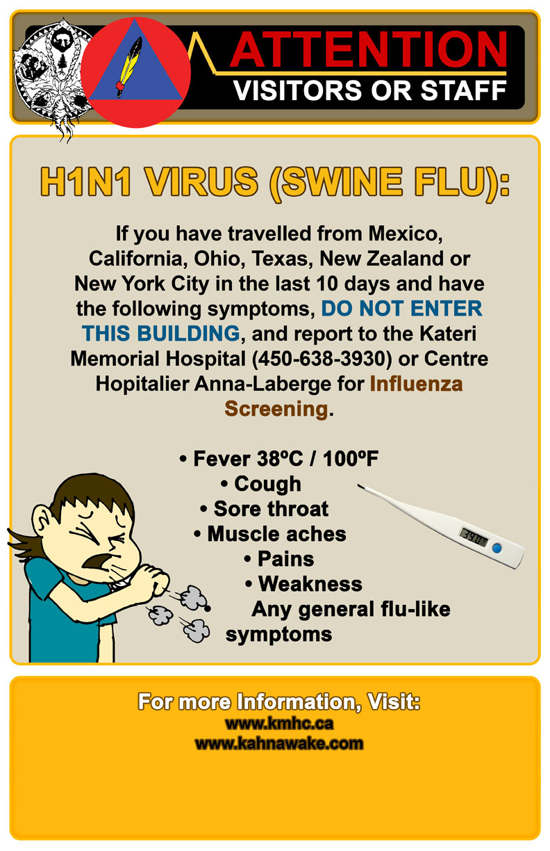 Poster Warning for Public  H1n1 Poster